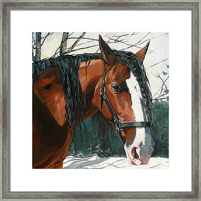 Timber Framed Print by Nadi Spencer