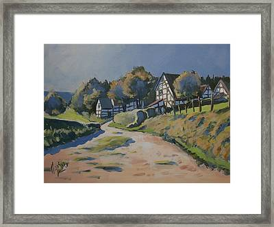 Timbered Houses In Terziet Framed Print