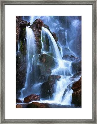 Timberline Falls Framed Print