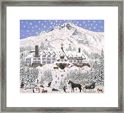 Framed Print featuring the painting Timberline Lodge by Jennifer Lake