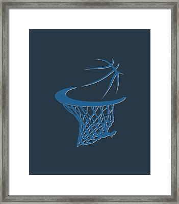 Timberwolves Basketball Hoop Framed Print