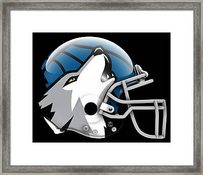 Timberwolves What If Its Football Framed Print