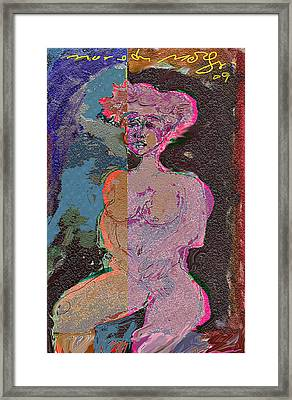 Time Agin The Clouds Send The Rain. Framed Print by Noredin Morgan