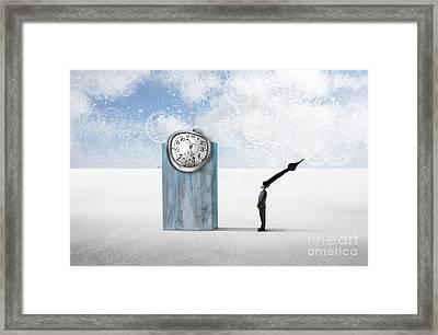 Time  Framed Print by Aimelle ML