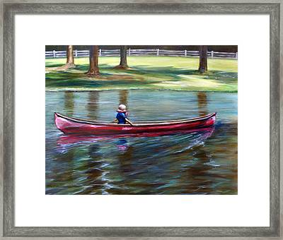 Time Alone Framed Print by Laura Ury