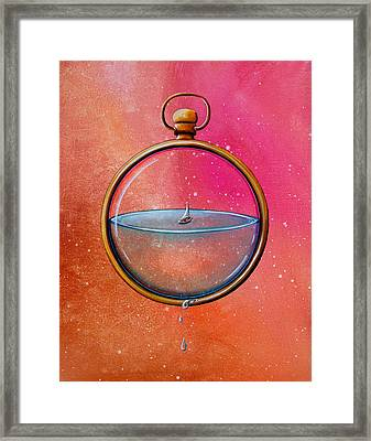 Time And Space Framed Print by Cindy Thornton