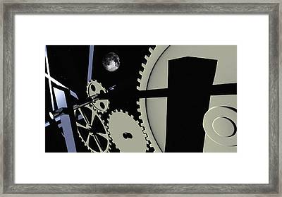 Time And Space Framed Print by Richard Rizzo