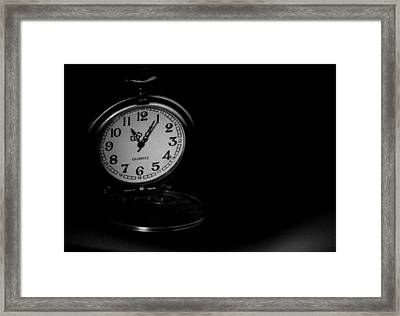 Time Framed Print by Angela Aird