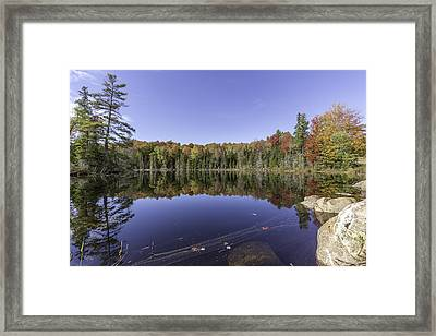 Time At The Lake Framed Print by Everet Regal