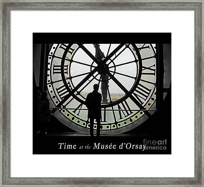 Time At The Musee D'orsay Framed Print by Felipe Adan Lerma