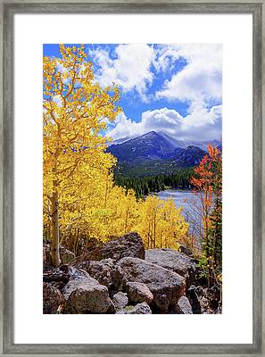 Time Framed Print by Chad Dutson