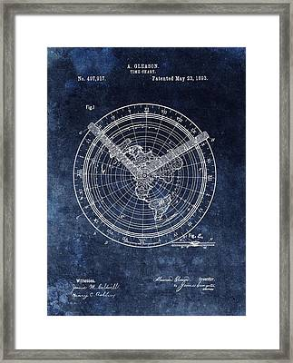 Time Chart Patent Framed Print