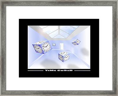 Time Cubed Framed Print