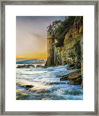 Time Flows I Wait Framed Print