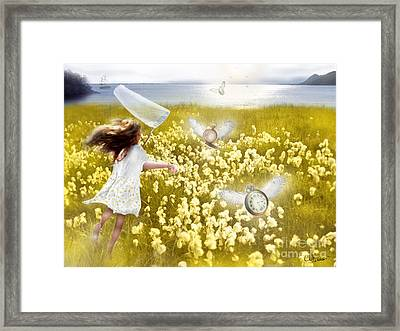 Time Flys When You're Having Fun Framed Print by Carrie Jackson