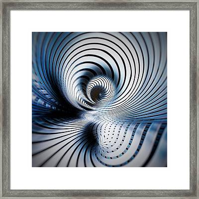 Interlock Blue  Framed Print