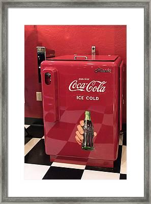 Time For A Break - Coke Framed Print by Jon Berghoff