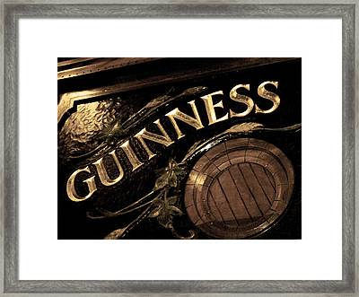 Time For A Guinness Framed Print