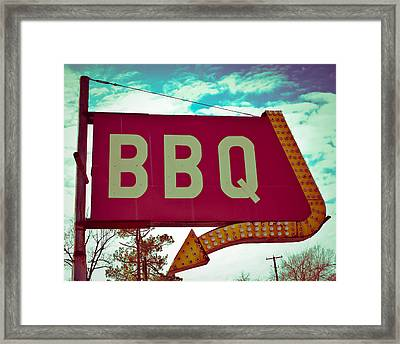 Time For Bbq Framed Print by Sonja Quintero