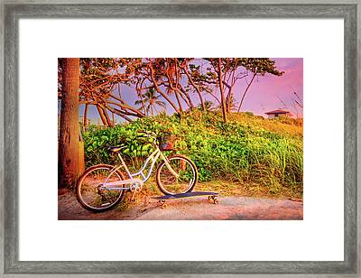 Framed Print featuring the photograph Time For Beach Fun by Debra and Dave Vanderlaan