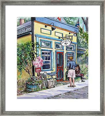 Framed Print featuring the painting Time For Coffee by Margit Sampogna