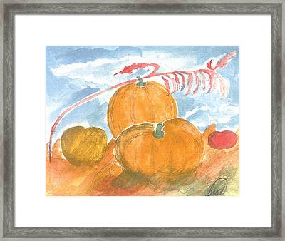 Framed Print featuring the painting Time For Harvest by Saad Hasnain