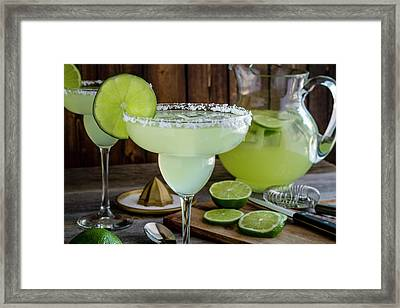 Framed Print featuring the photograph Time For Margaritas by Teri Virbickis
