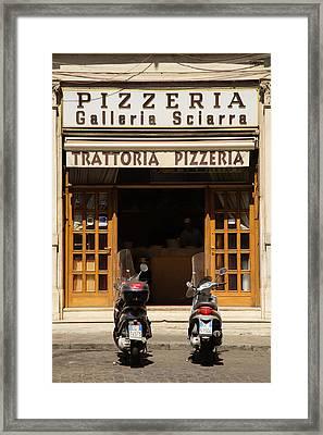 Time For Pizza Framed Print