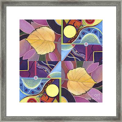 Time Goes By - The Joy Of Design Series Arrangement Framed Print by Helena Tiainen
