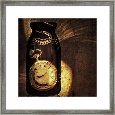 Time In A Bottle Framed Print by Susan Candelario