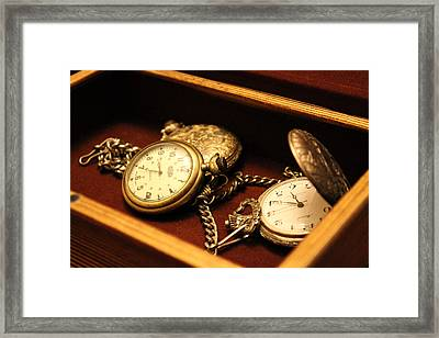 Time In A Box Framed Print