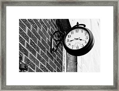 Time In Black And White Framed Print by Michelle Shockley