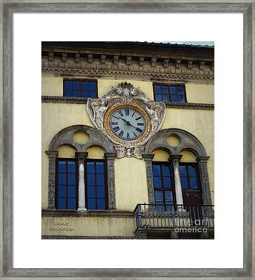 Time In Lucca Framed Print