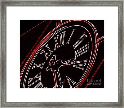 Time In Red And Black Framed Print