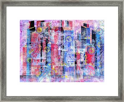 Time In The City Framed Print by David Raderstorf