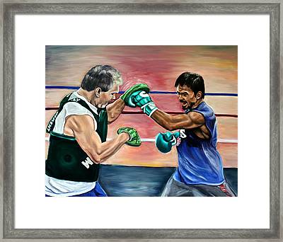 Time In The Ring Framed Print by Dawn Graham