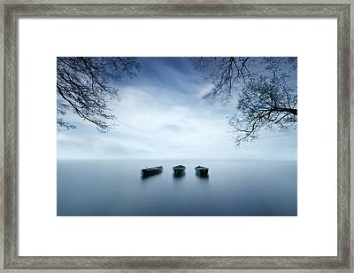 Time Is A Wave Framed Print by Izabela Laszewska-mitrega