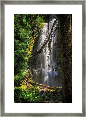 Framed Print featuring the photograph Time Is An Illusion by Cat Connor