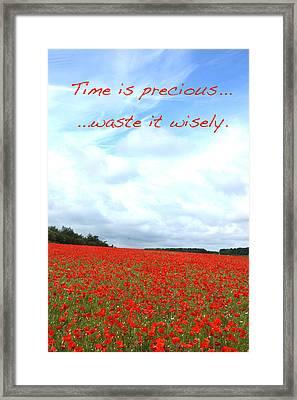 Time Is Precious Framed Print by David Birchall