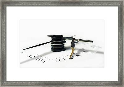 Time Is Pressing? .. No Problem ! Framed Print