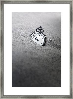 Time Is Running Framed Print