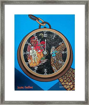 Time Is Running Out And I Am Running Scared Framed Print by Deidre Firestone
