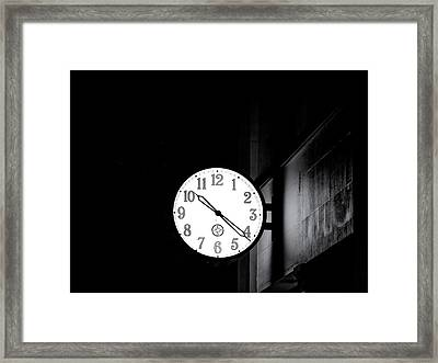 Time Is Slipping Away Framed Print