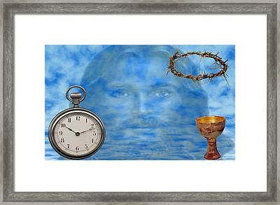Time Is Ticking Framed Print by Evelyn Patrick
