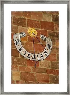 Time ... Framed Print
