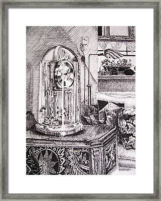 Time Framed Print by Kathleen Romana