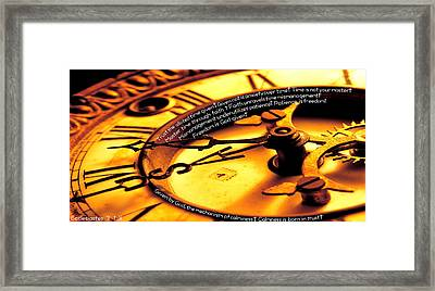 Time Management Framed Print by David  Norman