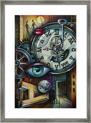 'time' Framed Print by Michael Lang