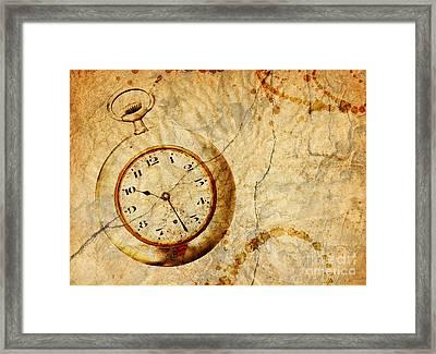 Time Framed Print by Michal Boubin