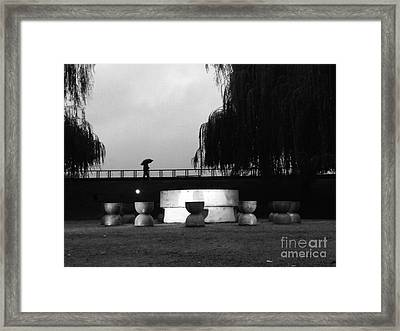 Time Of Circular Silence  Framed Print by Mioara Andritoiu